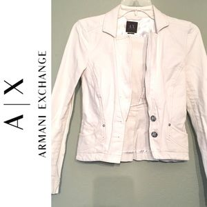 Gorgeous Piece Armani Exchange White JACKET